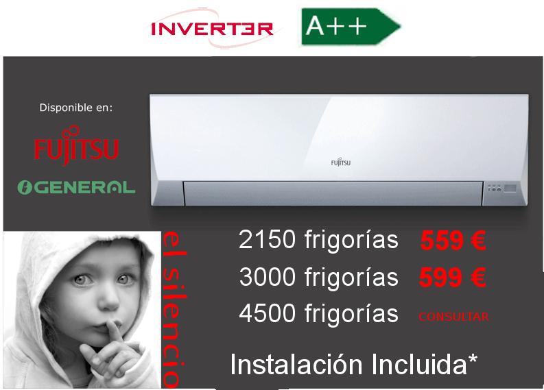 Oferta aire acondicionado General Fujitsu