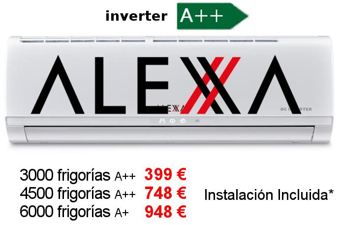 Oferta aire acondicionado Alexa