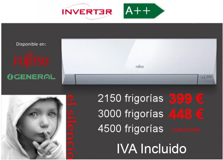 Oferta aire acondicionado General-Fujitsu ASG LLCC