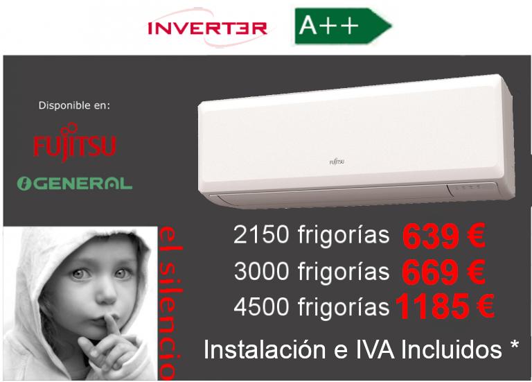 Oferta aire acondicionado General-Fujitsu ASG UI-KP