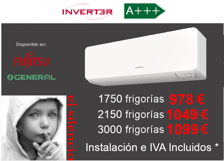 Oferta aire acondicionado General-Fujitsu ASG Ui-KG