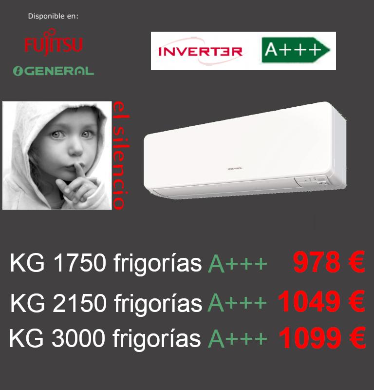Aire acondicionado General Fujitsu KG